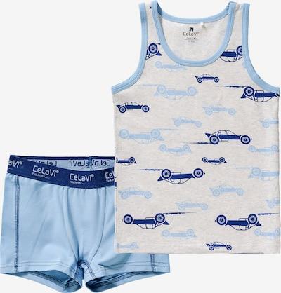 CELAVI Unterwäsche Set in blau / hellblau / grau, Produktansicht