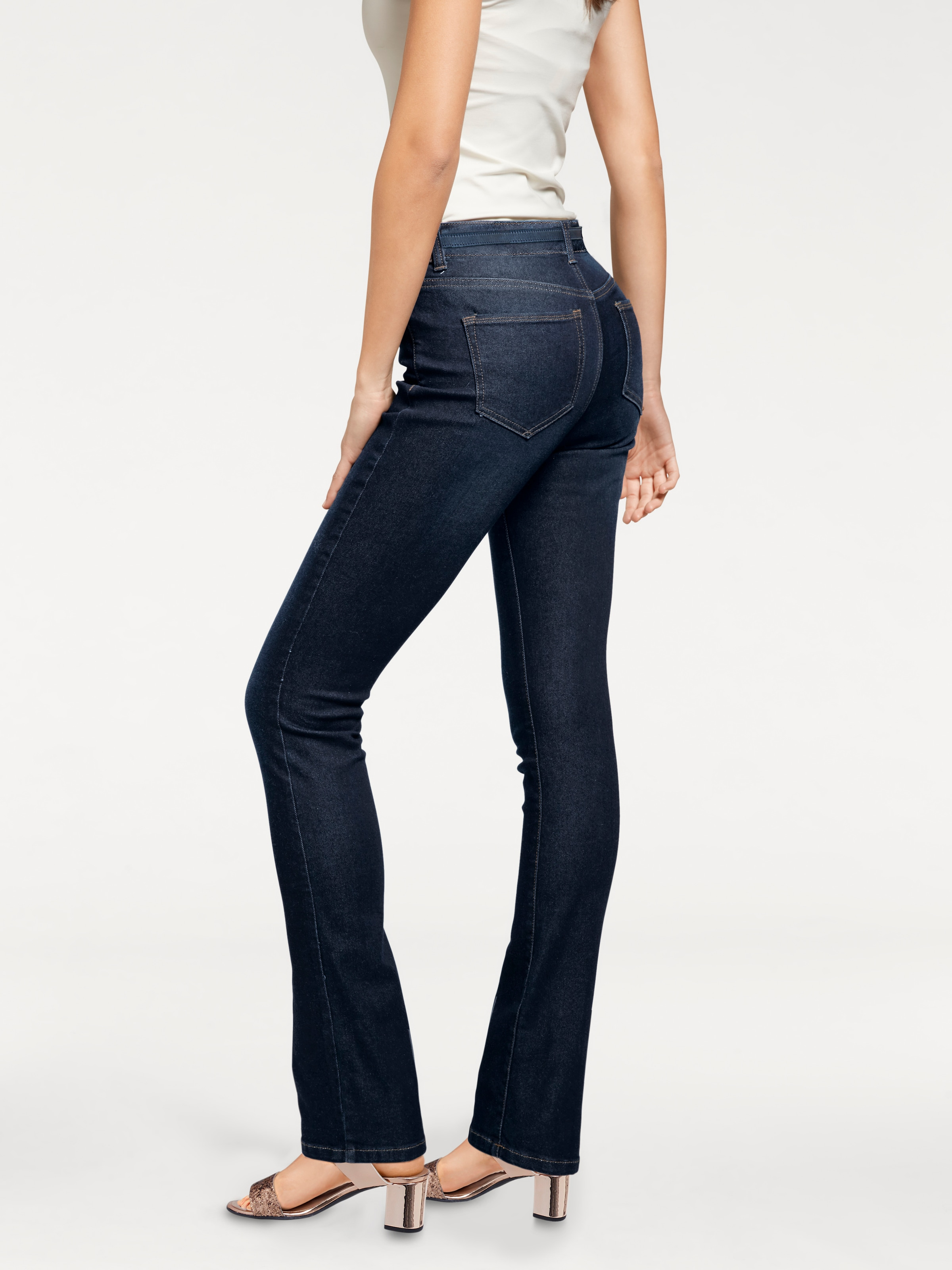 heine Bodyform-Bootcut-Jeans mit Coolmax-Funktion in blue denim