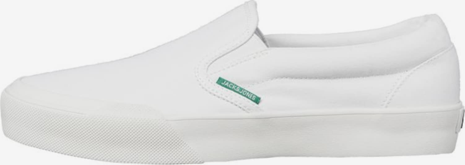 JACK & JONES Slip-on Leinen Sneaker in weiß, Produktansicht