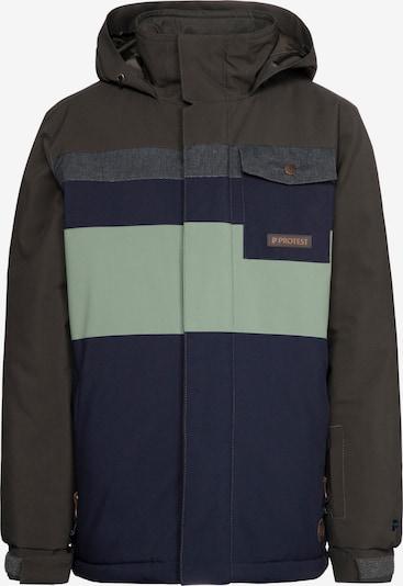 PROTEST Snowboardjacke 'Byron' in marine / grau / dunkelgrau / mint, Produktansicht
