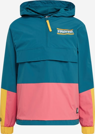 Starter Black Label Tussenjas 'Starter Multicolored Logo Windbreaker ' in de kleur Geel / Petrol / Pink, Productweergave