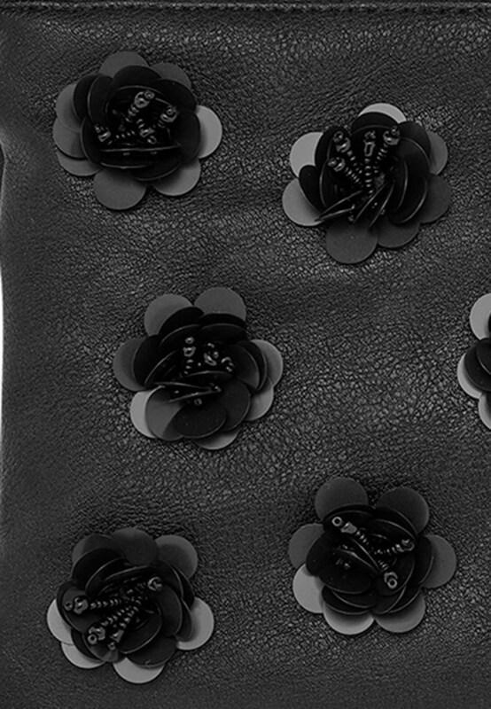 HALLHUBER Clutch mit 3D-Blüten