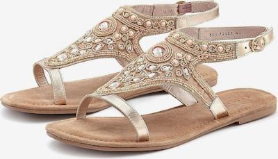 Sandalai iš LASCANA , spalva - smėlio: Vaizdas iš priekio