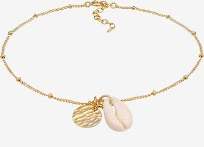 ELLI Fußschmuck 'Kette Muschel' in gold, Produktansicht