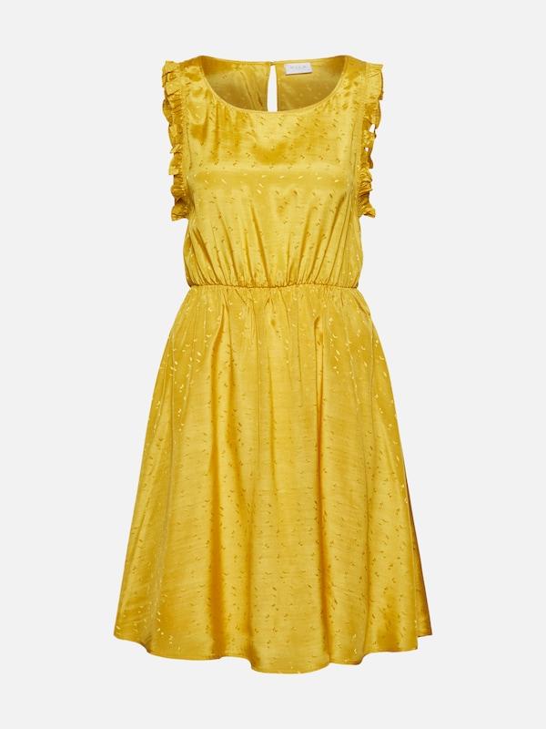fbe174d6cd VILA Letnia sukienka w kolorze żółtym