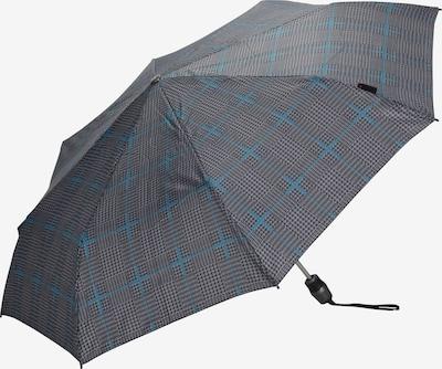 KNIRPS Taschenschirm 'T .200' 28 cm in himmelblau / grau / schwarz, Produktansicht