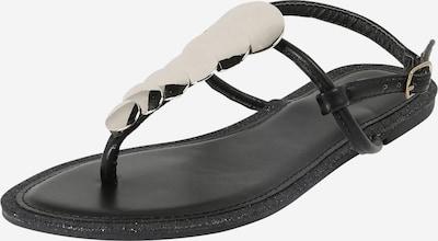 Hailys Sandale 'Maira' in schwarz / silber, Produktansicht
