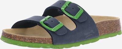 SUPERFIT Отворени обувки в тъмносиньо / лайм, Преглед на продукта