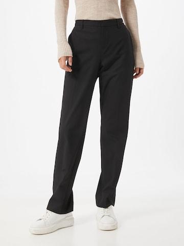 Pantaloni con piega frontale 'Homme' di CINQUE in nero