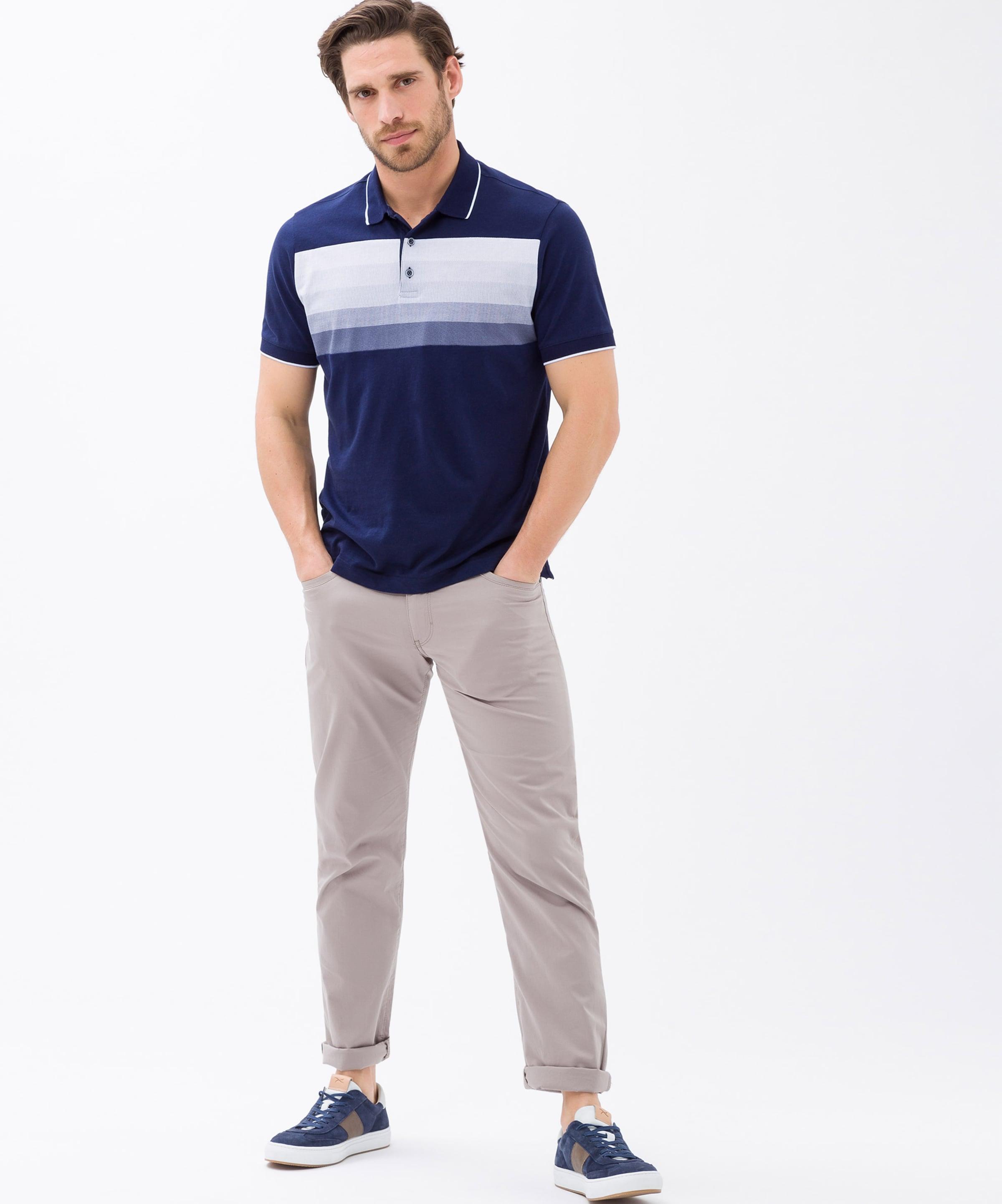 'parker' NavyTaubenblau Brax Poloshirt In Weiß RjLA54