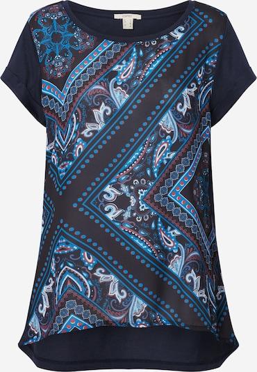 ESPRIT Shirt 'OTB bandanascaf' in navy / mischfarben, Produktansicht