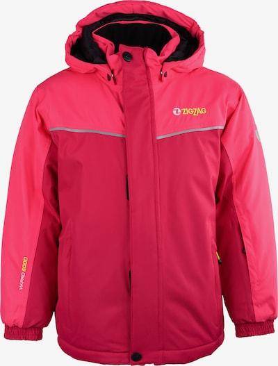 ZigZag Skijacke in gelb / pink / pastellpink / silber, Produktansicht