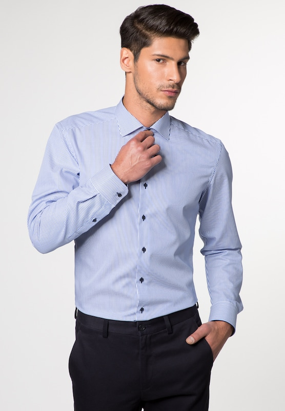 Eterna Long Sleeve Shirt Slim Fit