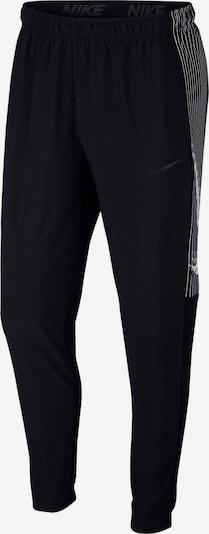 NIKE Funktionshose 'Dry Taper' in schwarz / weiß: Frontalansicht