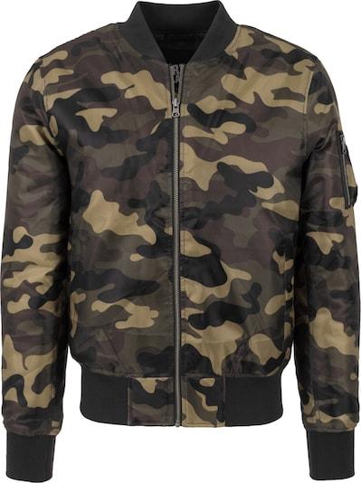 Urban Classics Jacket in braun / dunkelgrau / khaki, Produktansicht