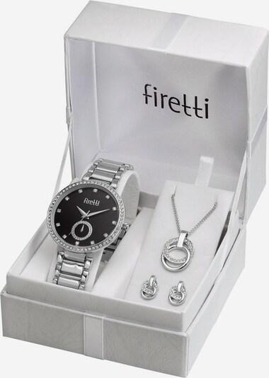 FIRETTI Quarzuhr (Set, 4 tlg.) in silber, Produktansicht
