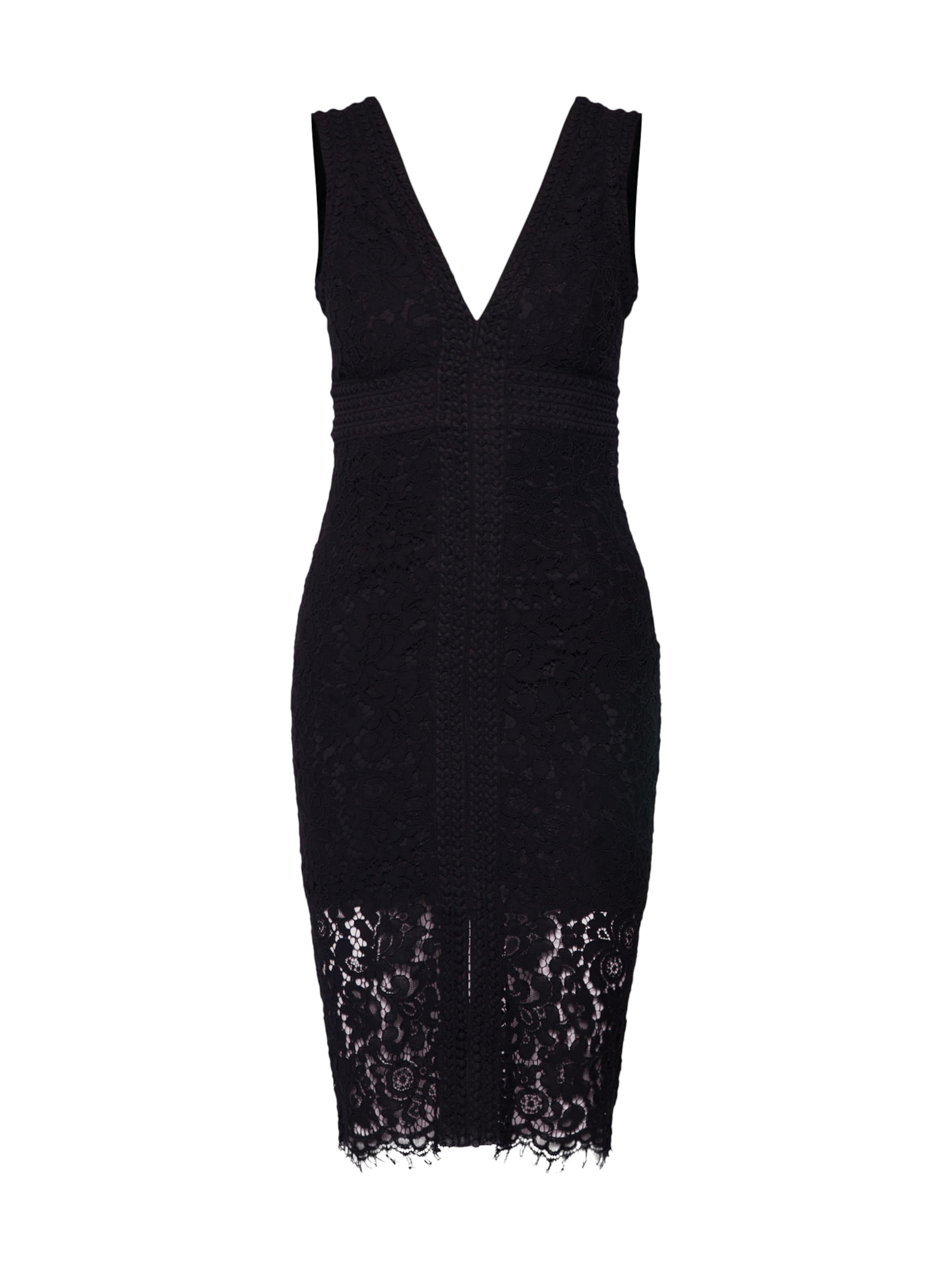 Schwarz Dress' Kleid Lace In Bardot 'halter shtQCxrd
