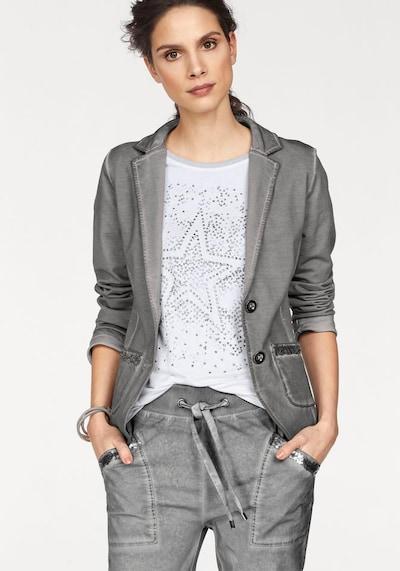 LAURA SCOTT Sweatblazer in grau, Modelansicht