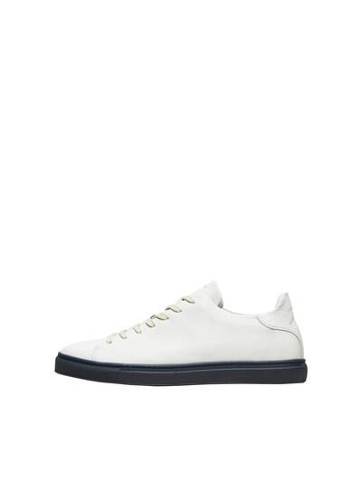 gyöngyház-fehér SELECTED HOMME Rövid szárú edzőcipők, Termék nézet