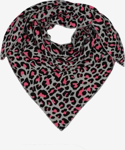Zwillingsherz Tuch in grau / pink / schwarz, Produktansicht