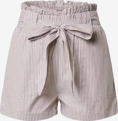 ONLY Shorts 'SMILLA' in braun / weiß, Produktansicht