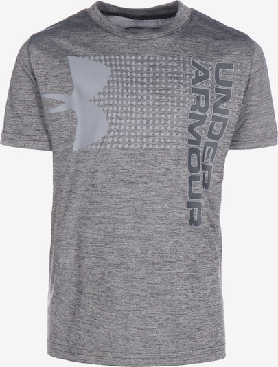 UNDER ARMOUR Trainingsshirt 'Crossfade' in grau / graumeliert / schwarz, Produktansicht