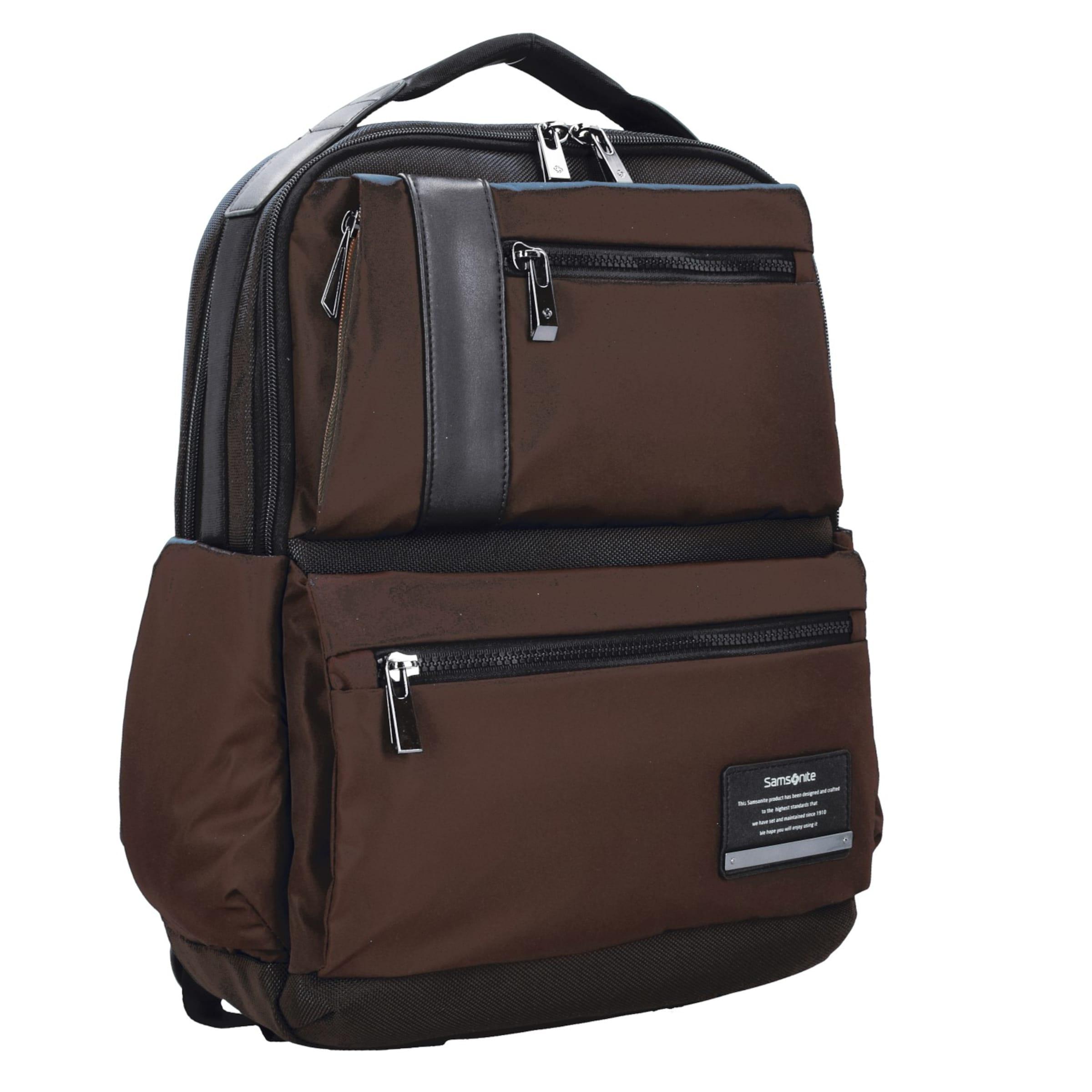 Cm In Laptopfach Samsonite Openroad Business BraunSchwarz Rucksack Leder 42 wO0nPk