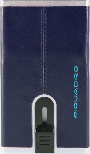 Piquadro Portemonnee 'Blue Square' in de kleur Nachtblauw / Zilver, Productweergave