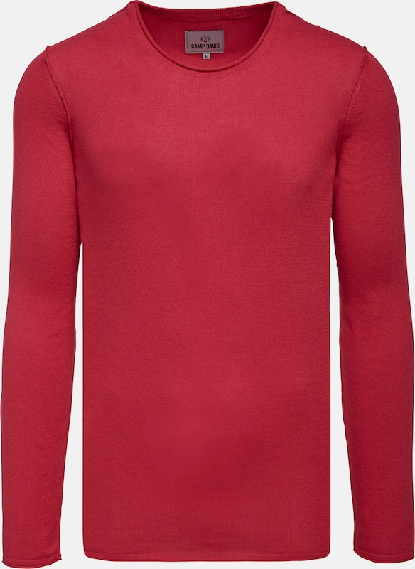 CAMP DAVID Pullover in rot, Produktansicht