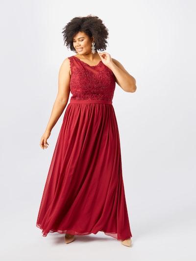 My Mascara Curves Večerné šaty - vínovo červená: Pohľad spredu