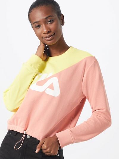 FILA Sweatshirt 'BANJI' in gelb / rosa: Frontalansicht