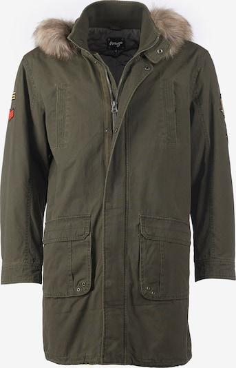 Maze Mantel in khaki, Produktansicht