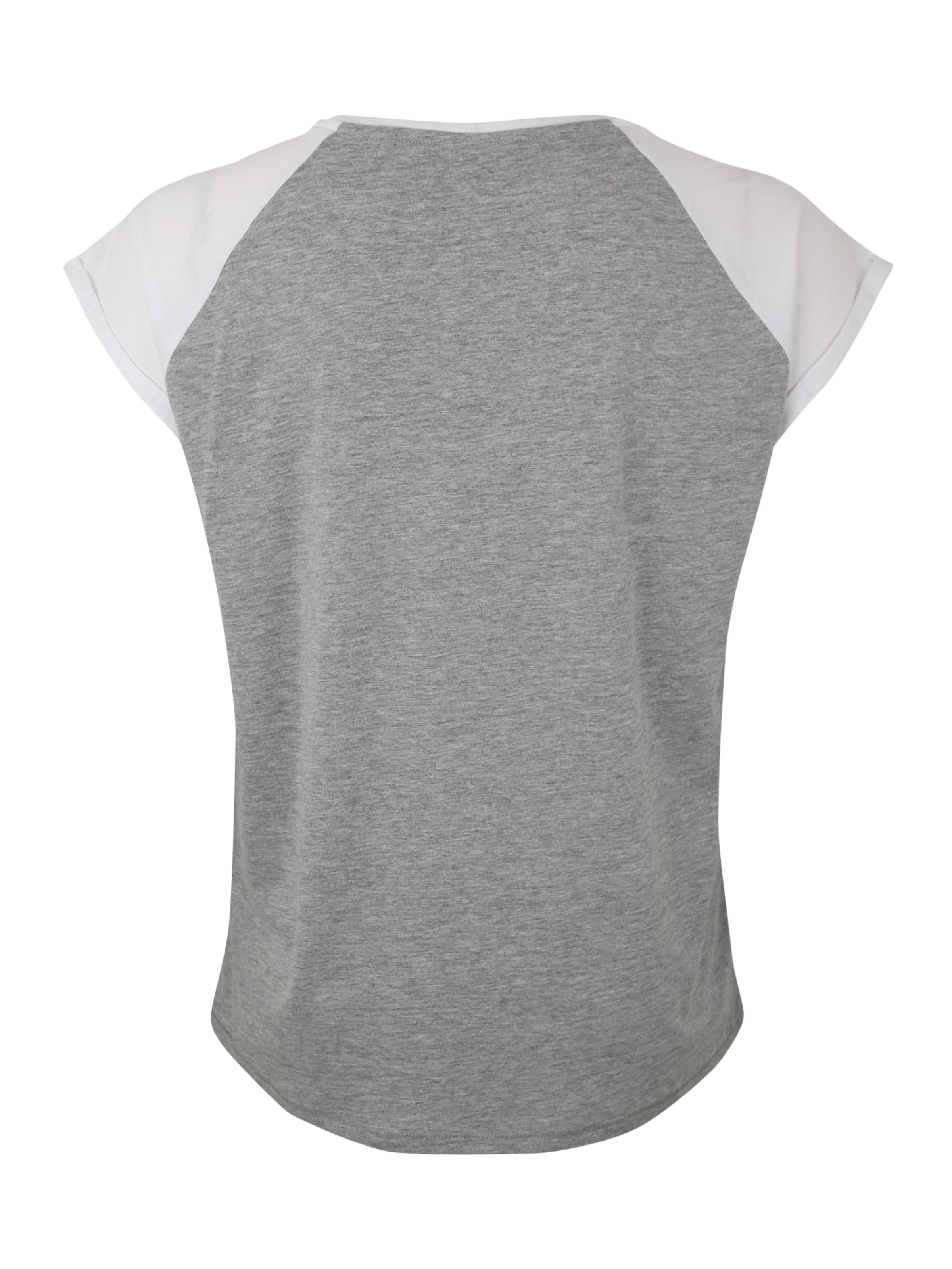 Classics 'ladies Urban In Curvy Tee' Raglan Shirt Contrast Grau gy7Ib6Yfv