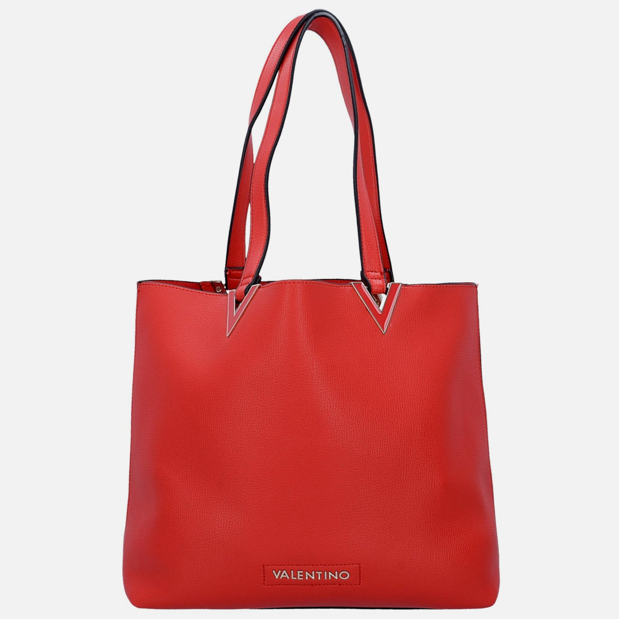 valentino handbags calendula shopper tasche 34 cm in rot. Black Bedroom Furniture Sets. Home Design Ideas