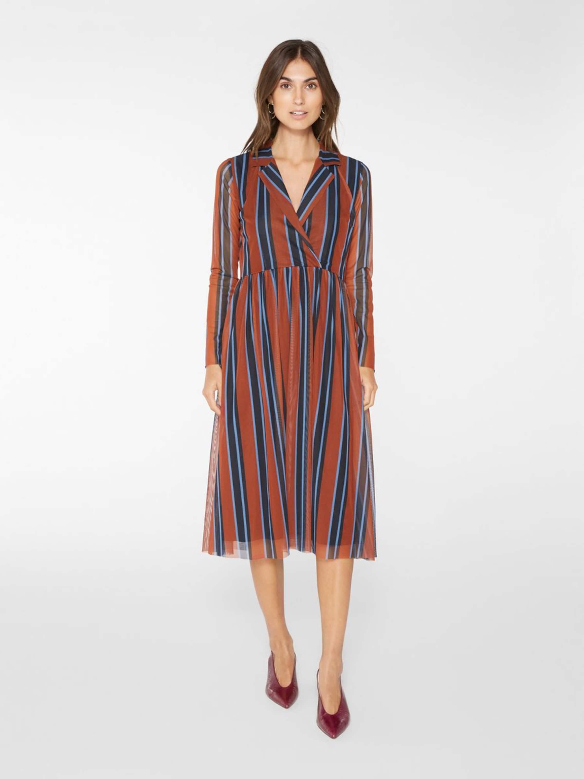 Kleid Rostbraun BlauHellblau a In s Y tsQdrh