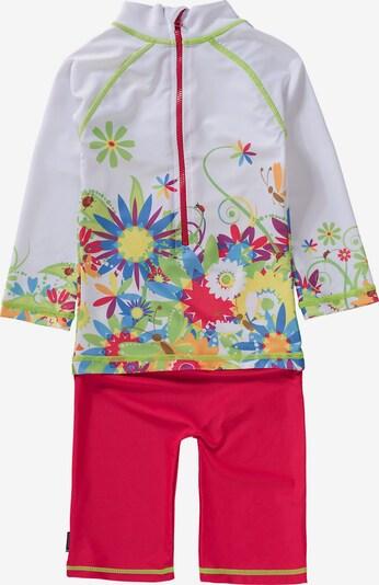SWIMPY Schwimmanzug in mischfarben / rot / weiß, Produktansicht
