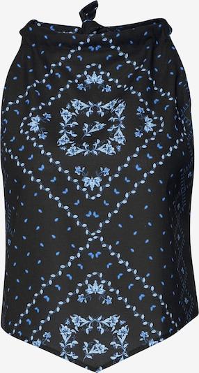 Bluză 'Kimber' EDITED pe albastru / negru: Privire frontală