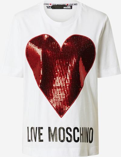 Love Moschino Shirt in rot / schwarz / weiß, Produktansicht