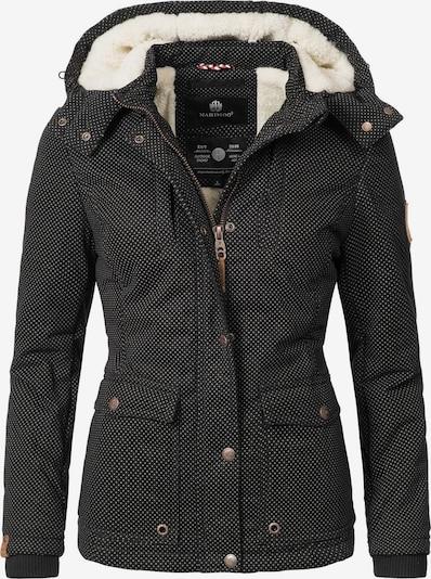MARIKOO Winterjacke 'Keikoo' in schwarz / weiß, Produktansicht