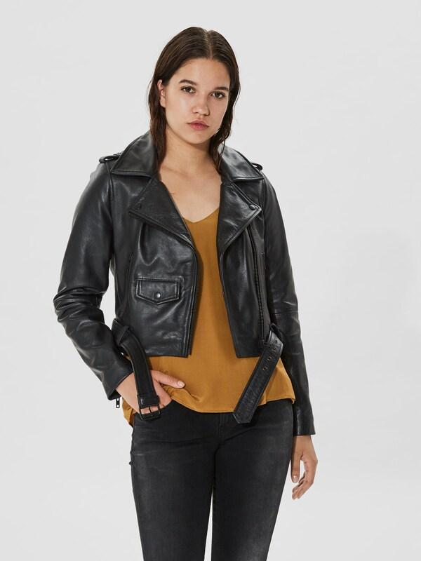 selected femme veste mi saison en noir about you. Black Bedroom Furniture Sets. Home Design Ideas