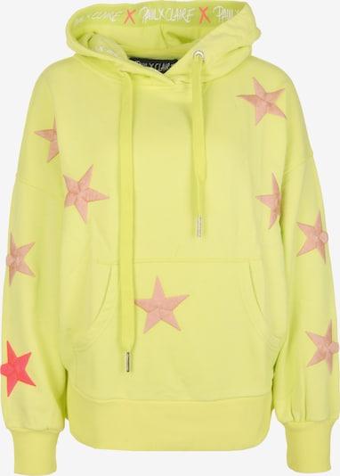 PAUL X CLAIRE Hoodie 'COSMOS' in gelb, Produktansicht