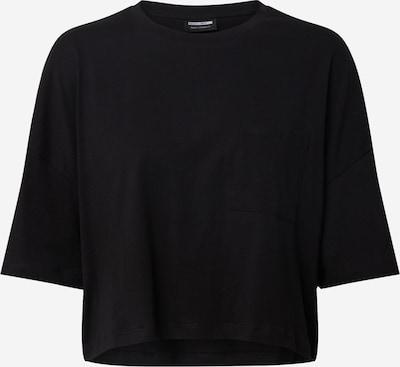 Noisy may T-shirt 'NMLOU' en noir: Vue de face