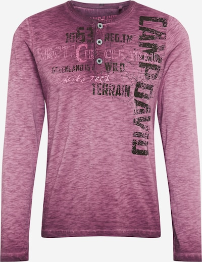 CAMP DAVID Shirt in de kleur Lila / Zwart, Productweergave