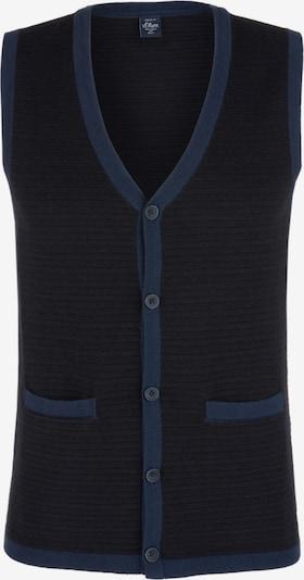 s.Oliver Weste in royalblau / schwarz, Produktansicht