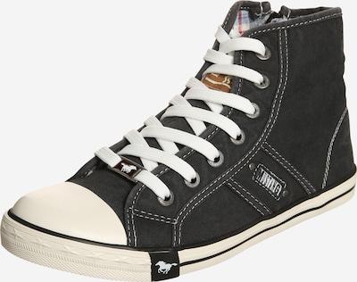 MUSTANG Baskets hautes en marron / noir / blanc, Vue avec produit