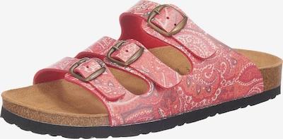 LICO Bioline Lady Komfort-Pantoletten in rot, Produktansicht