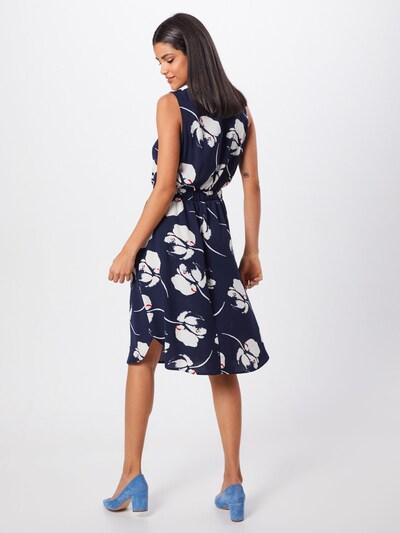 JACQUELINE de YONG Kleid 'LAYLA' in navy / weiß: Rückansicht