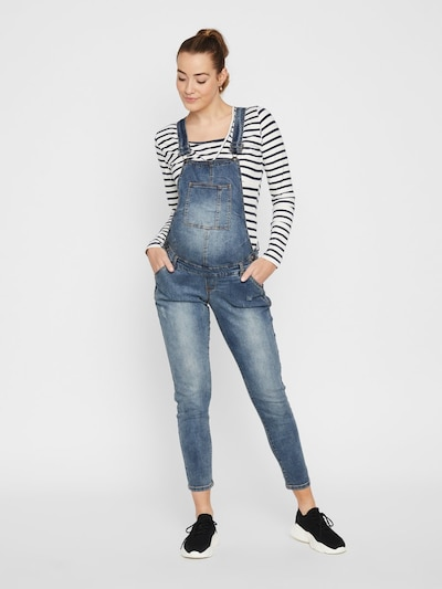 MAMALICIOUS Overall in blue denim, Modelansicht