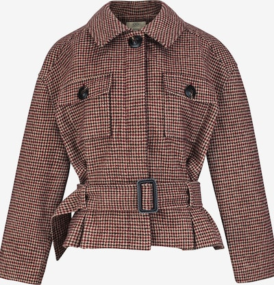 CUBIC Jacke in beige / dunkelbraun / rot, Produktansicht