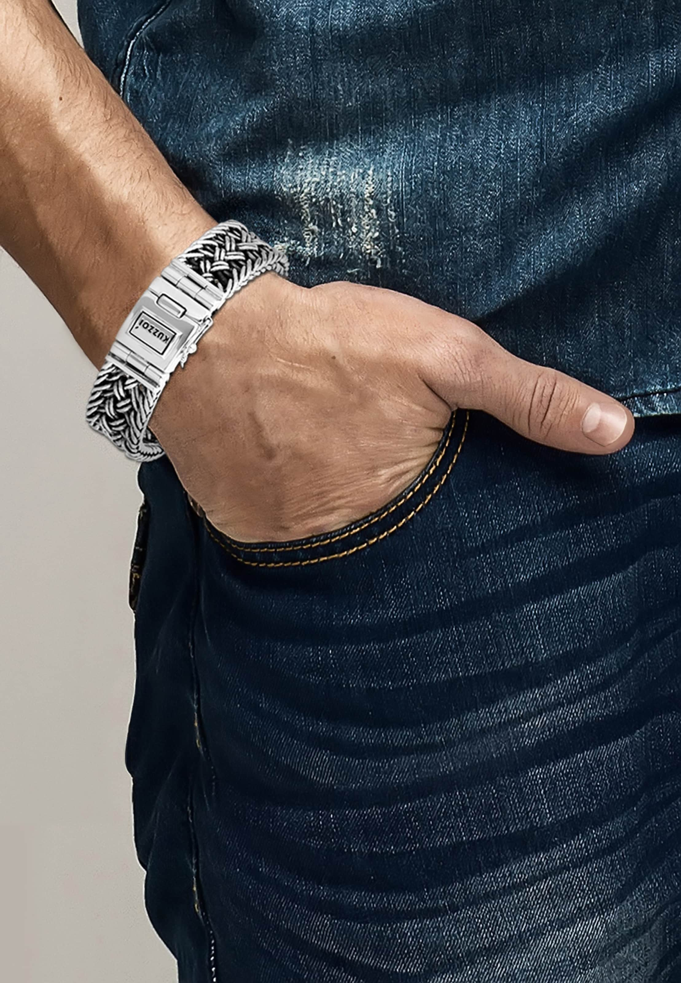 In Kuzzoi Armband Kuzzoi 'twisted' Silber 1FlKJc